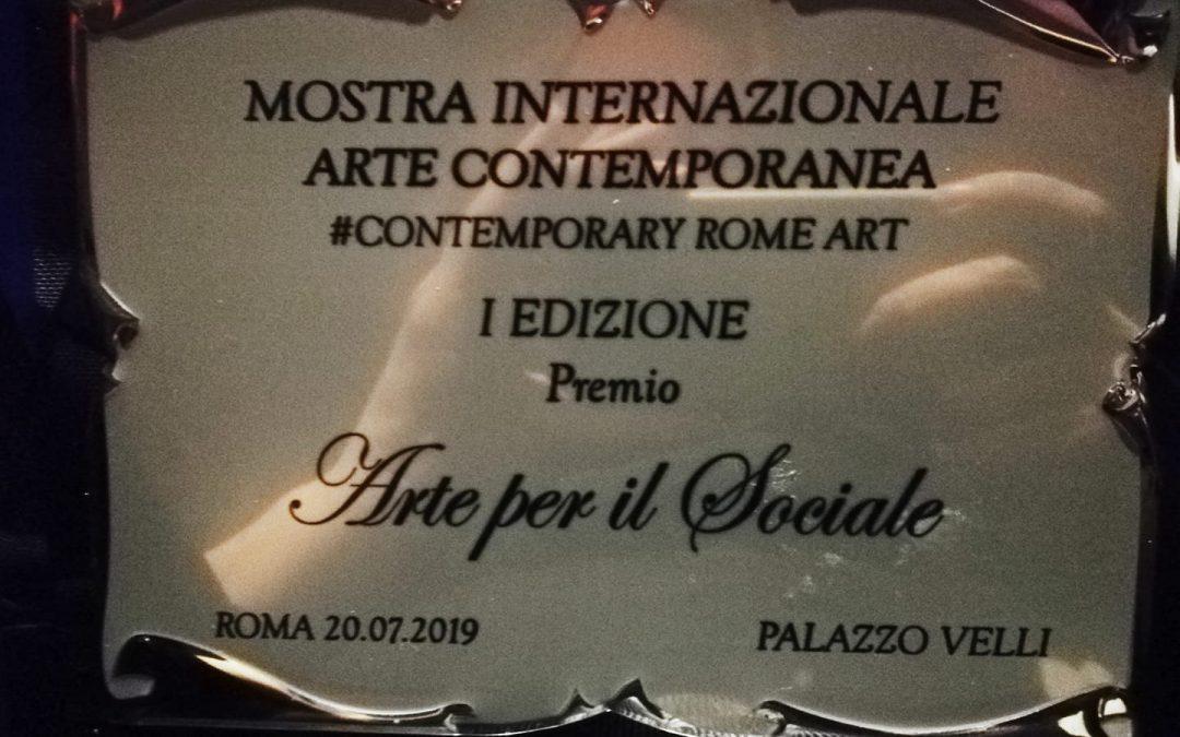 """I can hear you now"" won the ""Social Art Prize"" at ""Contemporary Rome Art, Mostra internazionale Arte contemporanea"", Palazzo Velli, Rome."